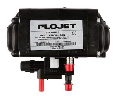 "Pump -Flojet, BIB, 3/8"" prod.fittings, straight CO2-fitting"