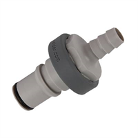 Connector -non spill, 3/8″, hose barb, male