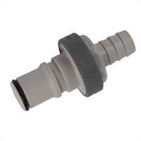 Connector -non spill, 1/2″, hose barb, male