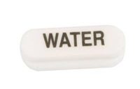 Button -Water, Wunder-bar, black on white