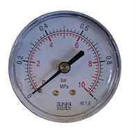 Manometer -1/4″ BSP, 0-10 bar