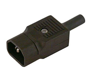 Electric plug -Bulgin, male, straight