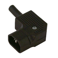 Electric plug -Bulgin, male, angle