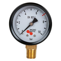 Manometer -1/4″NPT, 0-10/7bar