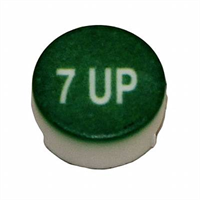 Button -7UP, Wunder-bar, white on green