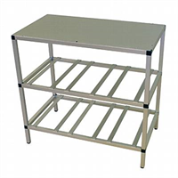 BIB-rack -2-shelf, top plate
