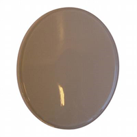 Badge -Mat white, oval